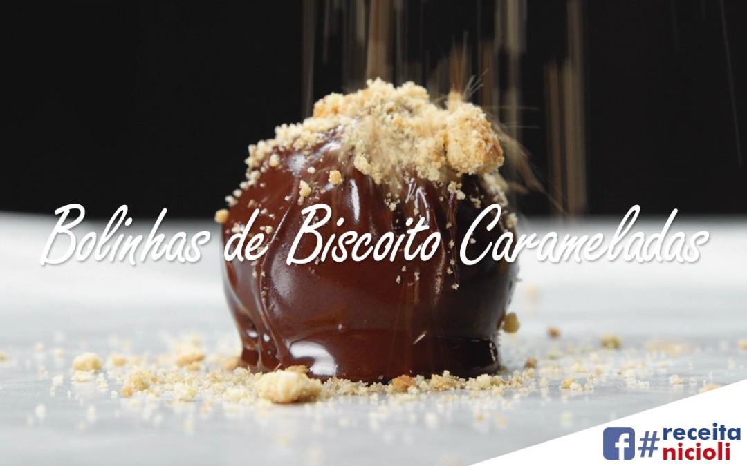Bolinhas de Biscoito Carameladas