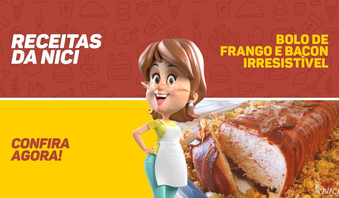 Bolo de Frango e Bacon irresistível