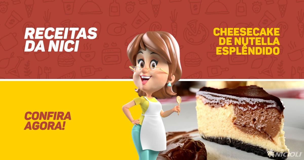 Cheesecake de Nutella Esplêndido