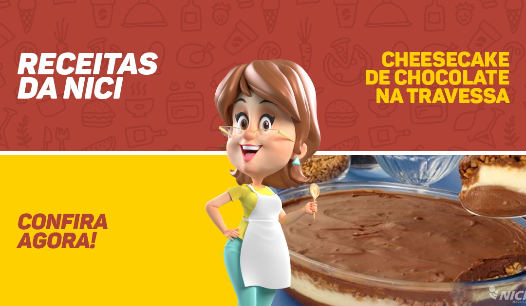 Cheesecake de Chocolate na Travessa