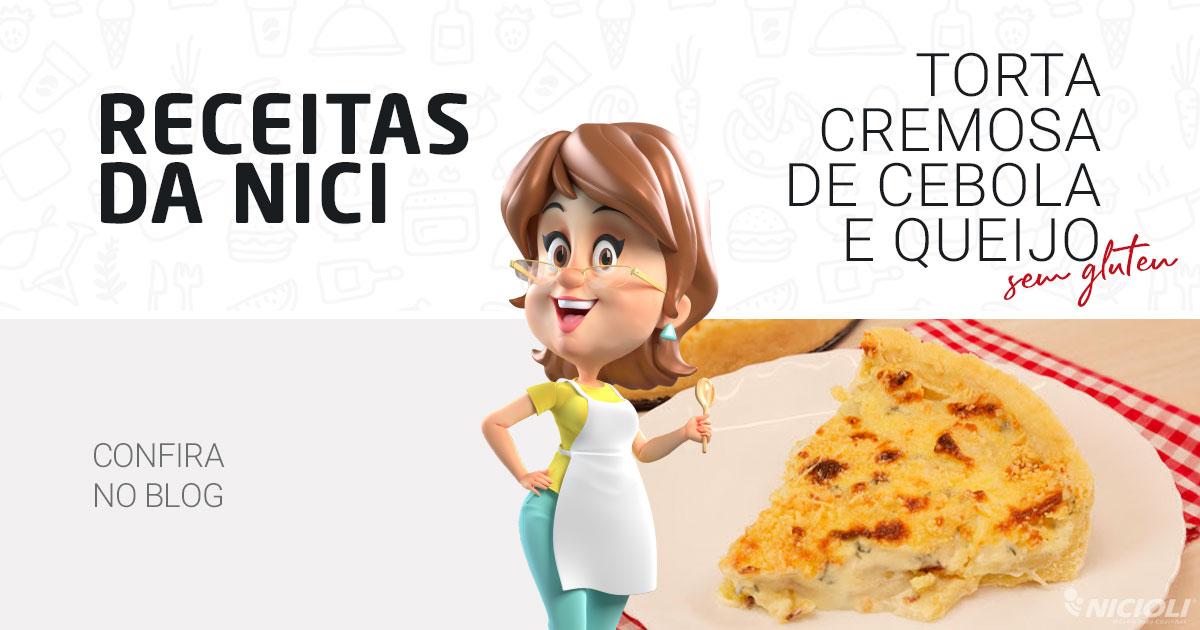 Torta cremosa de cebola e queijo SEM GLÚTEN