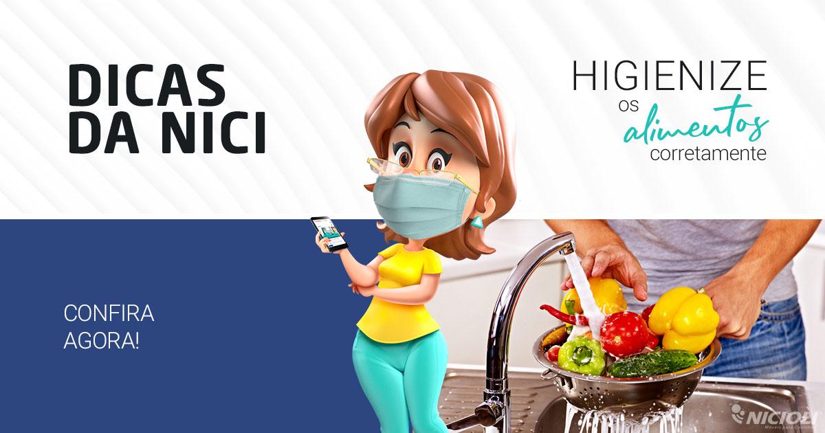 Aprenda a higienizar corretamente alimentos