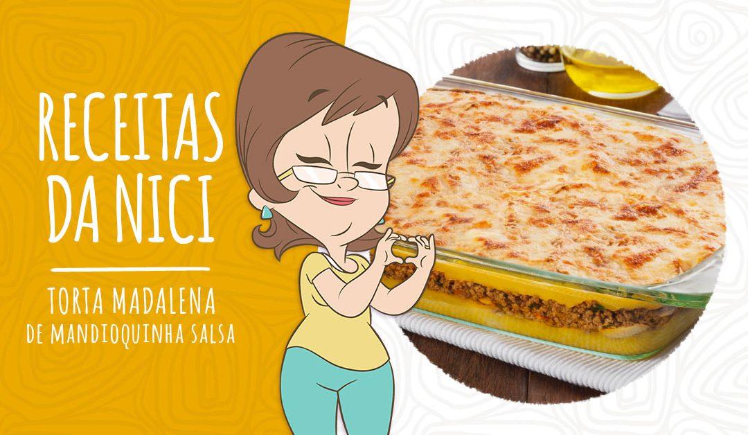 Torta Madalena de Mandioquinha Salsa