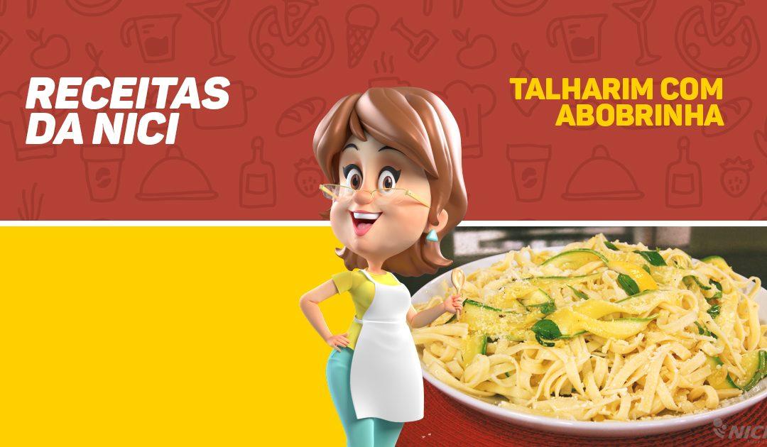 Talharim delicioso com abobrinha