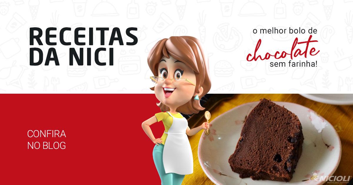 O melhor bolo de chocolate sem farinha
